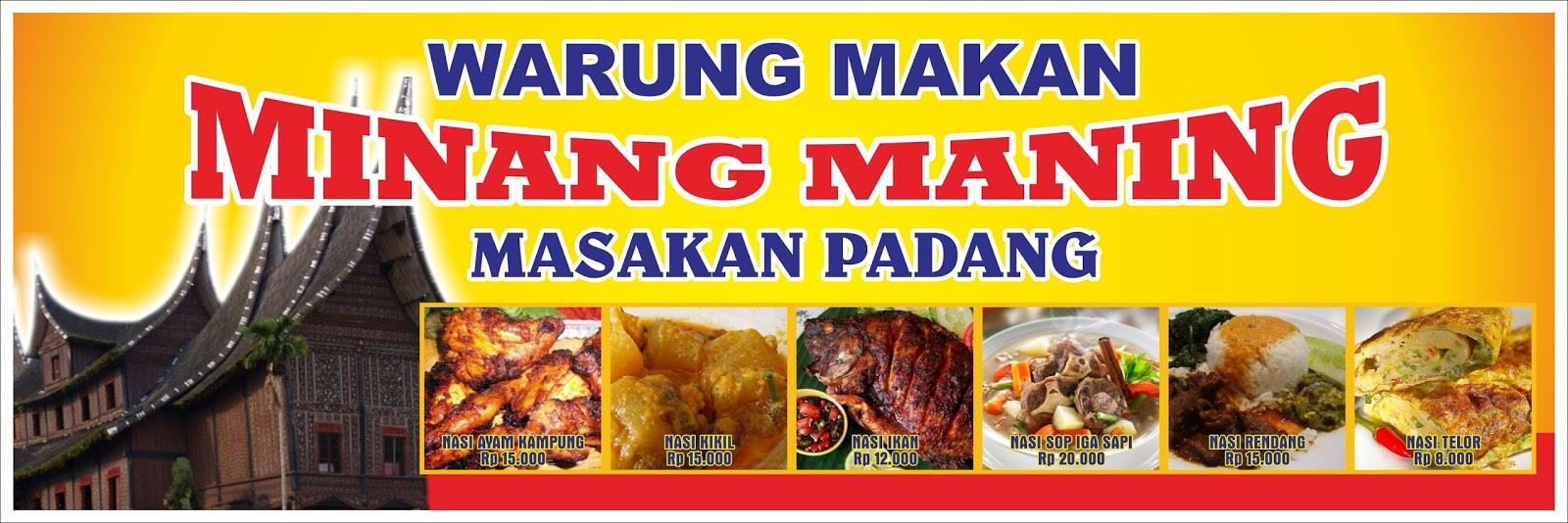 Contoh Desain Spanduk Masakan Padang - kumpulan gambar spanduk