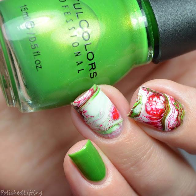 winter fluid nail art