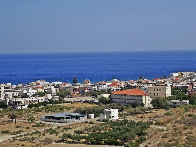 widok z góry na zatoki w Grecji