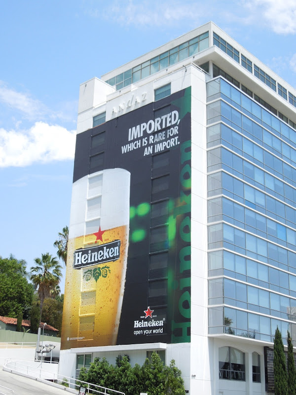 Giant Heineken Imported billboard