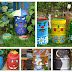Beautiful garden - decorated water barrels