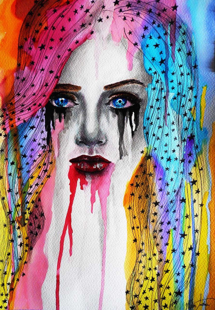 07-Andrea-Wéber-aka-Mandy-Candy-Paintings-A-Mirror-to-the-Artist-s-Emotions-www-designstack-co