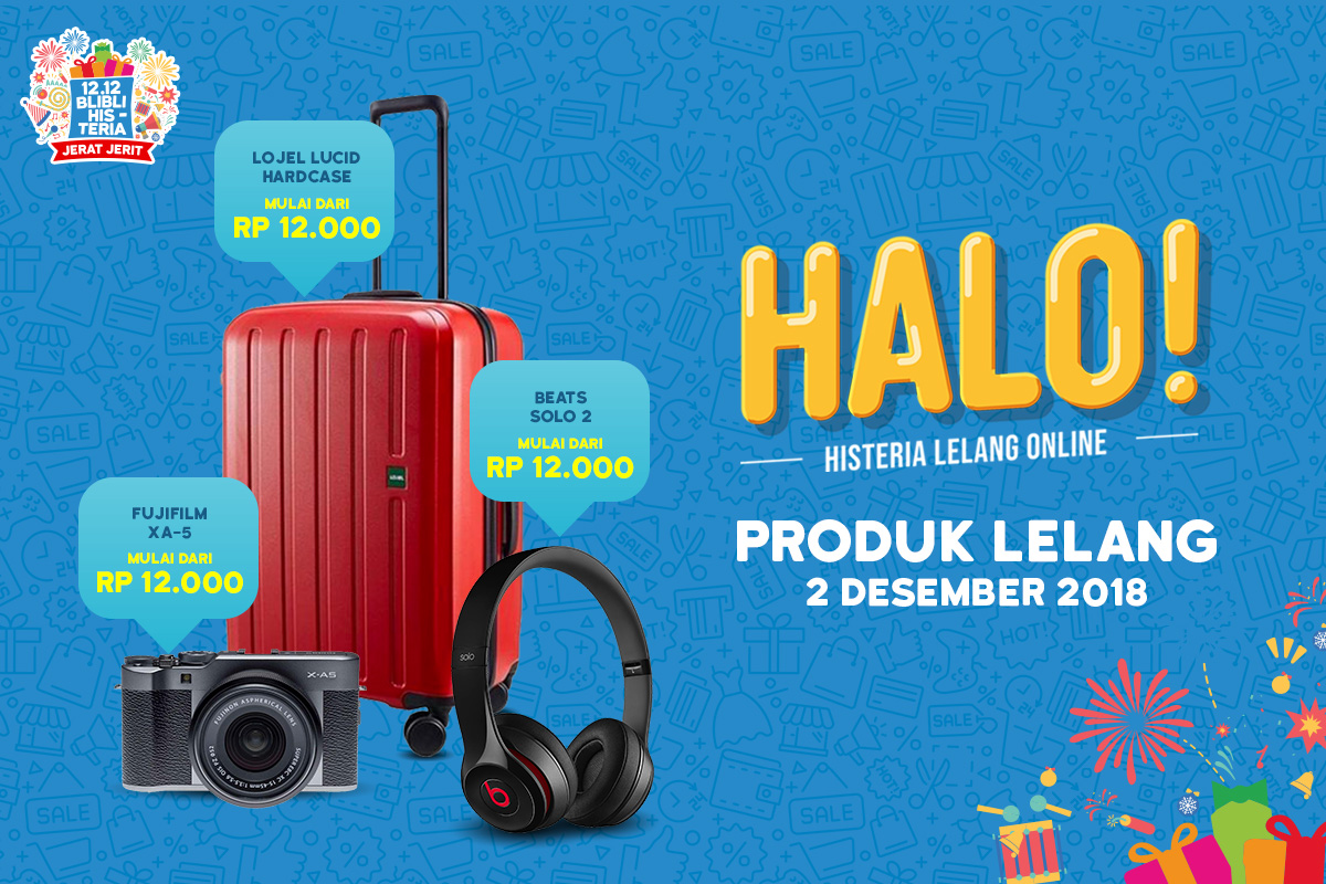 BliBli - Promo Jerat Jerit HALO Histeria Lelang Online (01 - 12 Des 2018)