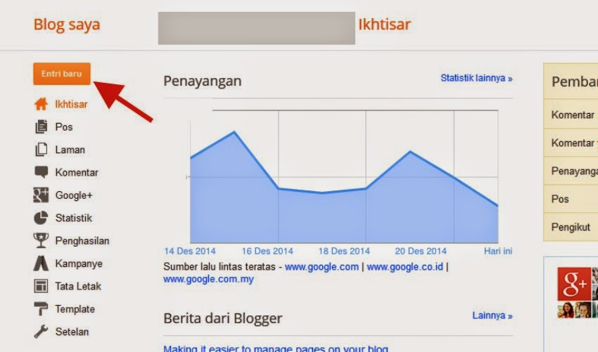 How to make article posts on blogspot