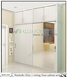 Lemari baju minimalis cabinet unit sliding Slide