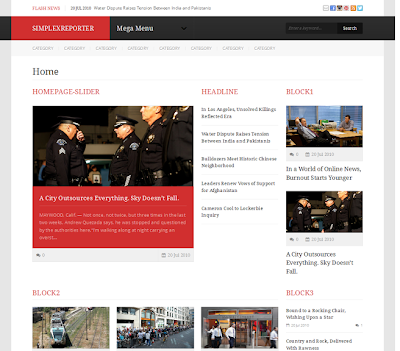 Simplex Reporter Responsive Blogger Template