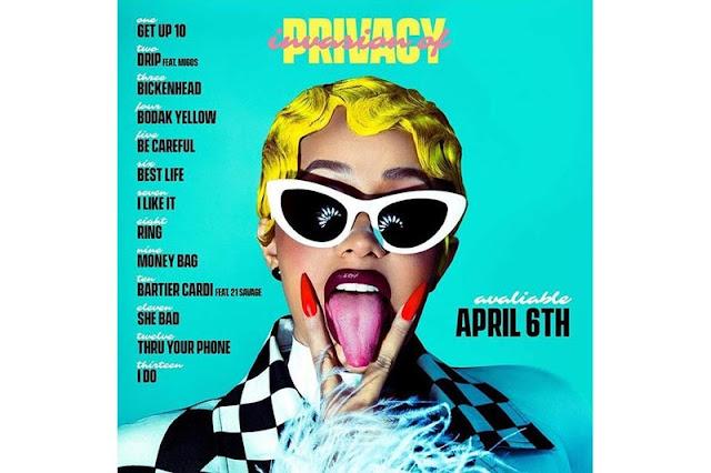 ALBUM: CARDI B – INVASION OF PRIVACY [DOWNLOAD FULL ALBUM TRACKLIST]