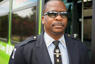 Bus operator beshide a MATA bus