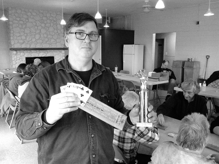 2017 City of Salem Cribbage Tournament: Steve Dibble (photo by Gabriel L. Daniels)
