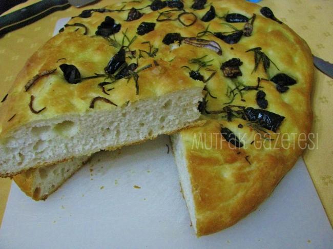 italyan focaccia ekmeği