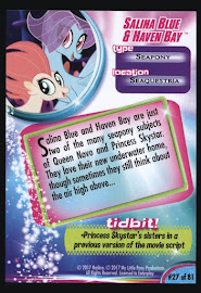 My Little Pony Salina Blue Amp Haven Bay Mlp The Movie Trading Card Mlp Merch