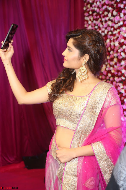 Ritika Sing in Golden Pink Choli Ghagra Cute Actress Ritika Sing ~  001.JPG