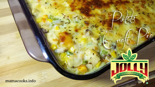Potato craft pie recipe, healthy dish