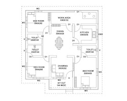 plan kerala bedroom budget low cost square feet 800 lakh plans sq sqft ft bedrooms 1187 area drawing toilet common