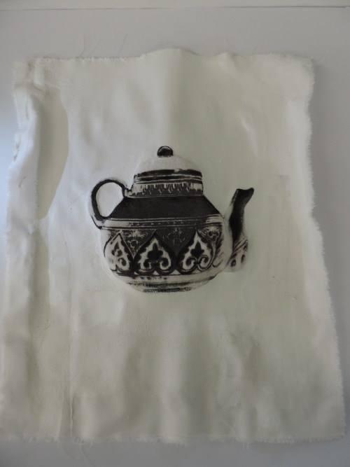Lost item: Deruta - Gumprint su velluto - Chiara Giorgetti