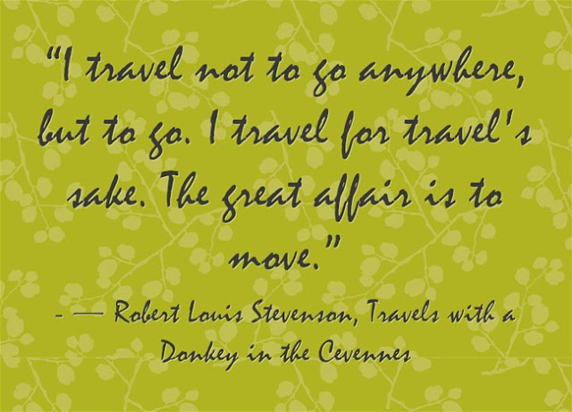 Stevenson Quote about travel