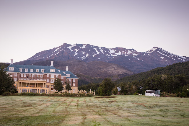 chateau tongariro dawn