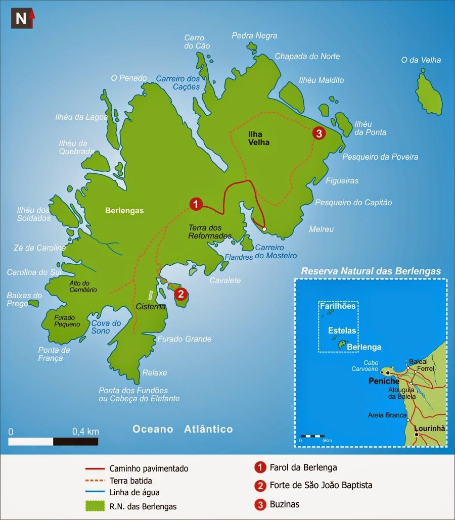 Islas De Portugal Mapa.Islas Del Mundo Berlenga