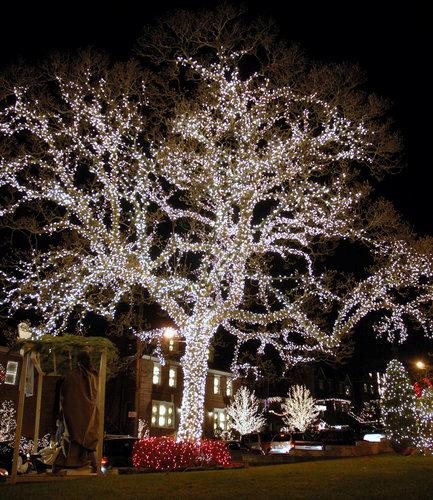 Amerikanische Weihnachtsbeleuchtung.Weihnachten 2011 In New York Typisch Amerikanische