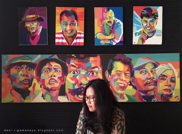 Wedha Pop Art Portrait Bintaro