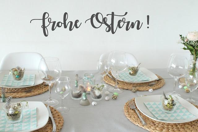 Ostertisch Taufe DIY Osternest Jules kleines Freudenhaus