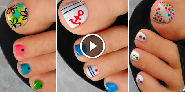 Learn, How To Make These Simple And Easy Toenail Designs, See Tutorial