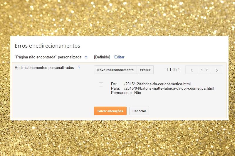 Redirecionamentos personalizados no blogger