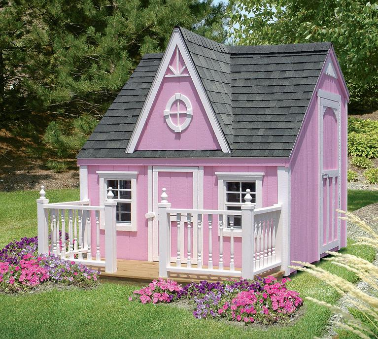 Diy girls and boys playhouse designs for backyard bahay ofw for Wooden playhouse designs