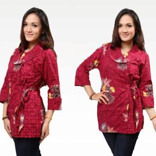 model kemeja batik cewek modis elegen