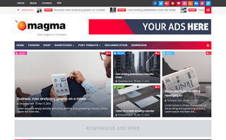 Magma Magazine Blogger Template