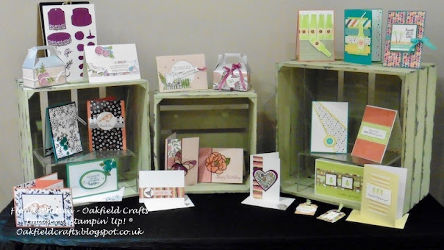 2018 Spring/Summer, Stampin' Up!, project display, Oakfield Crafts