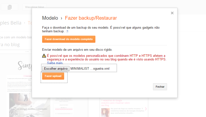 Como instalar um layout free no seu blog no Blogger