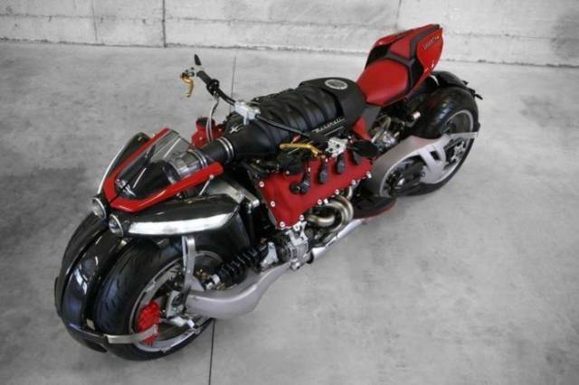 this bike powered with maserati engine is a real beast of. Black Bedroom Furniture Sets. Home Design Ideas