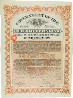 1923 bond Republic of Finland