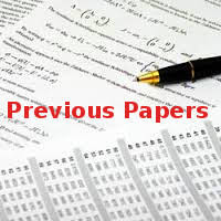 Previous Year Question Papers of July 2017