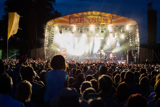 Stage and crowds at Cornnbury Music Festival