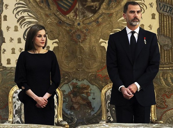 King Felipe, Queen Letizia, King Juan Carlos Queen Sofia, infantas Elena, Cristina, Pilar and Margarita attended the funeral of infanta Alicia