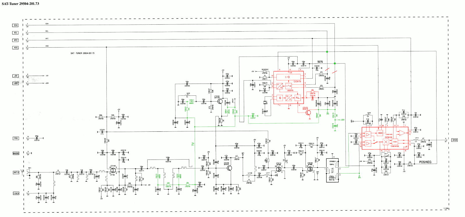 SAT Tuner U6237B modification schematic