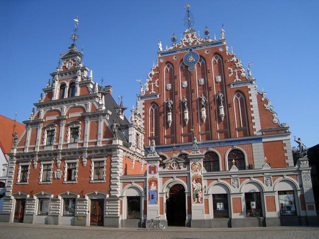 La Casa de los Cabezas Negras, principio del recorrido por Riga