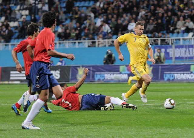 Ucrania y Chile en partido amistoso, 7 de septiembre de 2010