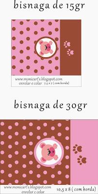 Etiquetas de Linda Osita Rosa para imprimir gratis.