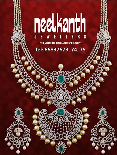 Two Rows Diamond Haram by Neelkanth Jewellers