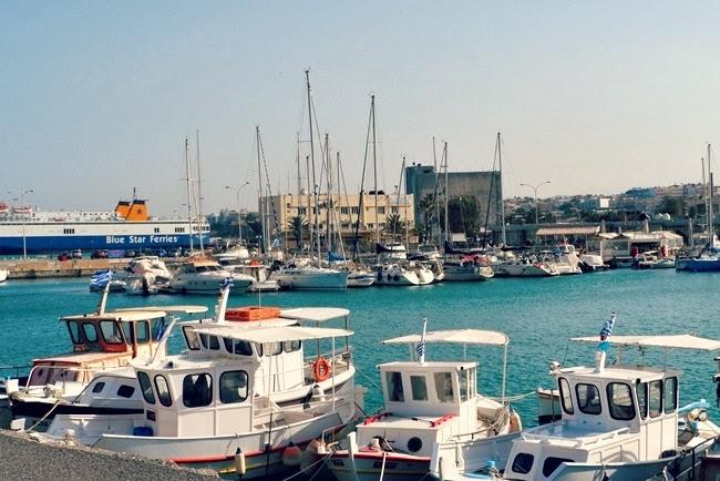 Kritska luka grad Iraklion