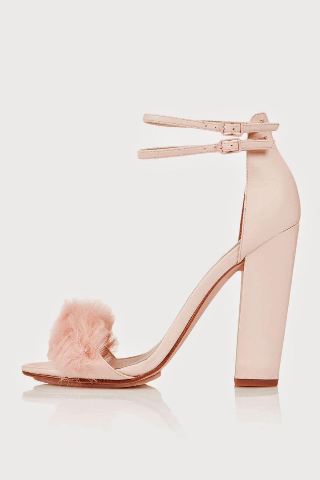 Top Shop Rabbit Fur Fluffy Sandals
