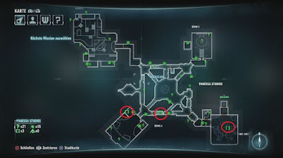 Batman Arkham Knight, Riddler's Puzzles, Panessa Studios Map