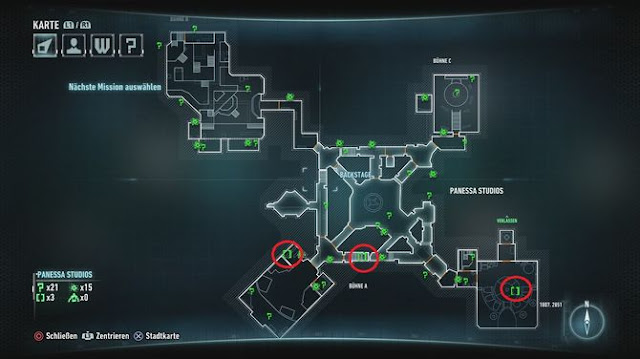 Batman Arkham Knight Riddler's Puzzles / locations with maps