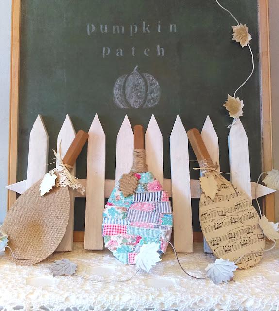 whimsical pumpkin patch mantel