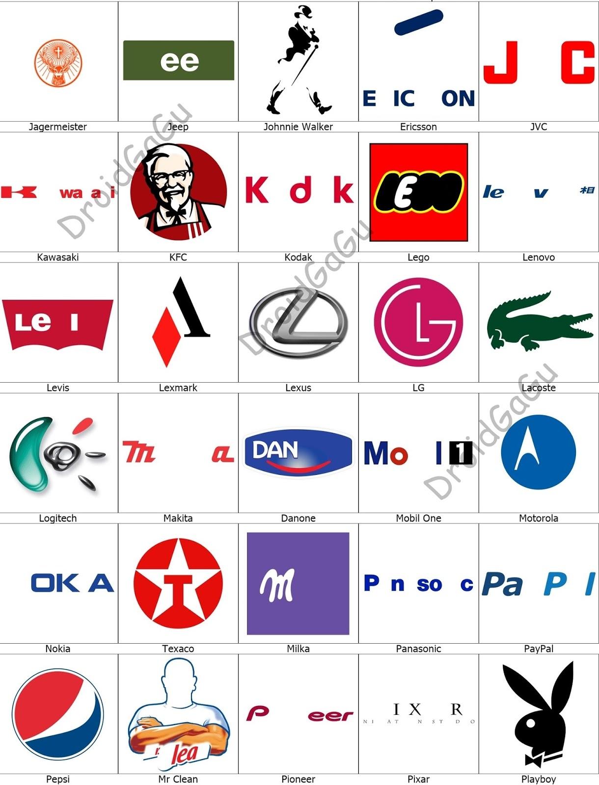 Level 4 Logo Quiz Answers - Bubble - DroidGaGu