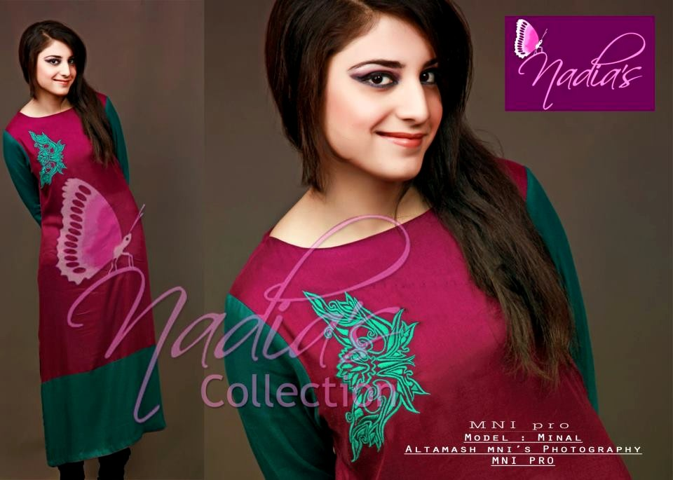 Casual Wear Dresses 2013 By Nadias Collection