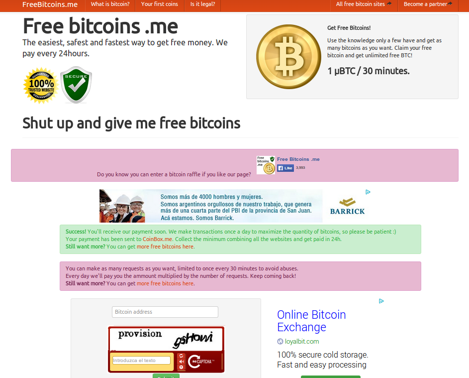 Free bitcoins for me